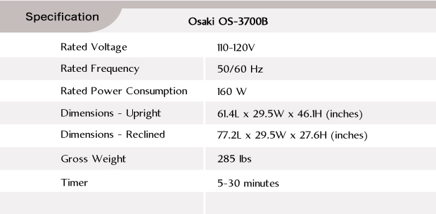 Osaki OS-3700B